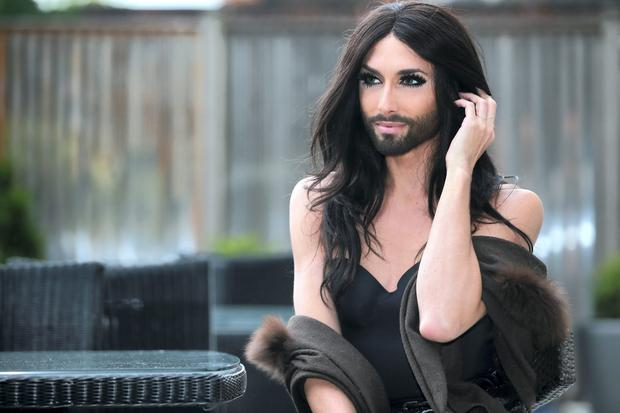 Eurovision Winner Conchita Wurst pictured at the Dylan Hotel before her performance at the George as part of the Dublin Gay Pride Festival. Picture:Arthur Carron