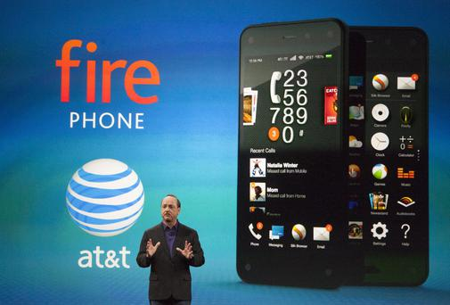 AT&T Mobility president and CEO Ralph de la Vega discusses the Fire Phone, Amazon.com's first smartphone (Photo by David Ryder/Getty Images)