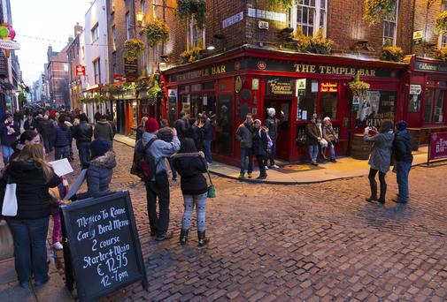 Grandmother hit by rocking horse while walking through Temple Bar
