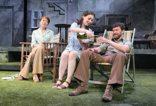 Struggle in Irish Society:Cathy Belton as Judith, Keith McErlean as Eamonn and Jane McGrath as Claire Photo: Gareth Chaney Collins.