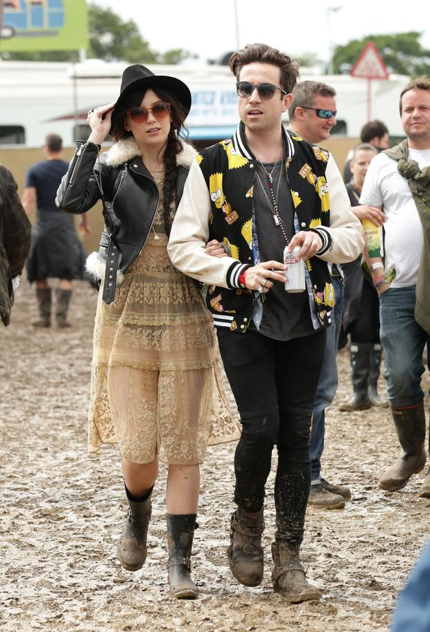 Nick Grimshaw and Daisy Lowe at the Glastonbury Festival