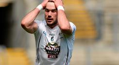 Fergal Conway, Kildare, reacts after conceeding a free. Leinster GAA Football Senior Championship, Semi-Final, Kildare v Meath. Croke Park, Dublin. Picture credit: Piaras O Midheach / SPORTSFILE