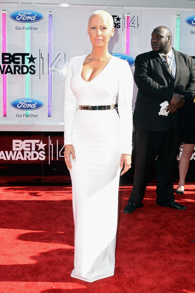 Amber Rose attends the BET AWARDS '14 at Nokia Theatre L.A. LIVE