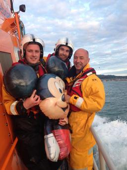 Dun Laoghaire RNLI callout turns into Mickey Mouse rescue: http://goo.gl/5cJPgp Pic: @Irishlifeboats Twitter