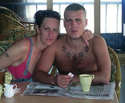 James Kelly with his mother Lily