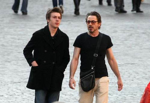 Robert Downey Jnr and his son Indio Falconer Downey