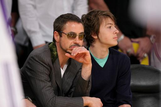 Robert Downey Jnr and his son, Indio Falconer Downey