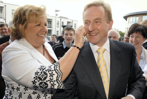 Fine Gael Party Leader Enda Kenny and his wife Fionnuala