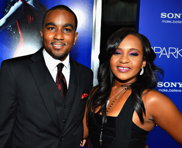 Bobbi Kristina Brown (R) and Nick Gordon in 2012 (Photo by Frazer Harrison/Getty Images)
