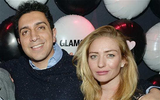 Whitney Wolfe pictured with Tinder CEO Sean Rad