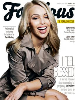 English philanthropist Katie Piper on the cover of Fabulous magazine.
