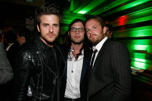 Jared Followill, Nathan Followill and Caleb Followill of Kings of Leon attend the Tribeca Film Festival after-party in New York City.