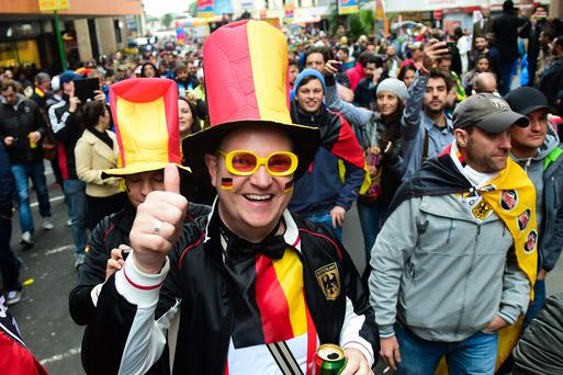 German fans enjoying themselves at the World Cup