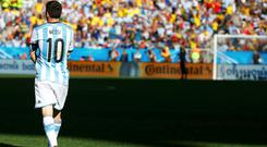 Argentina's look increasingly dependent on Lionel Messi in Brazil