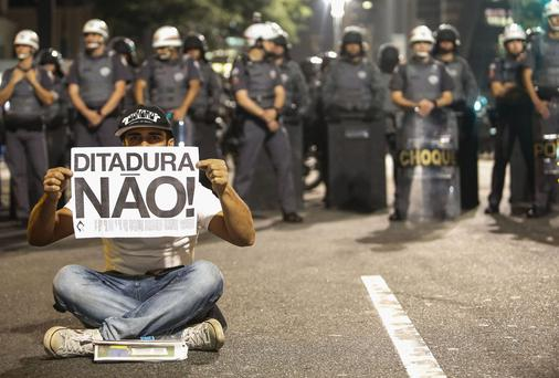 The protests continue in Brazil