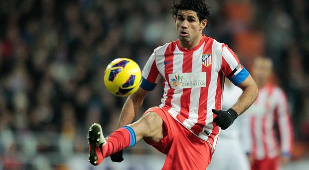 Diego Costa of Club Atletico de Madrid will transfer to Chelsea in a €32m deal. (Photo by Gonzalo Arroyo Moreno/Getty Images)