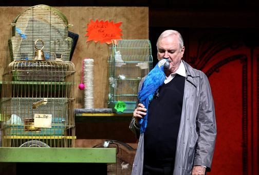 John Cleese performs on the opening night of