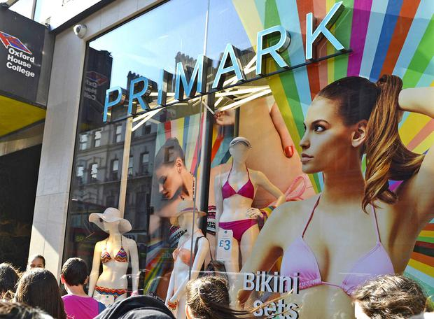 The woman gave birth outside Primark in Birmingham
