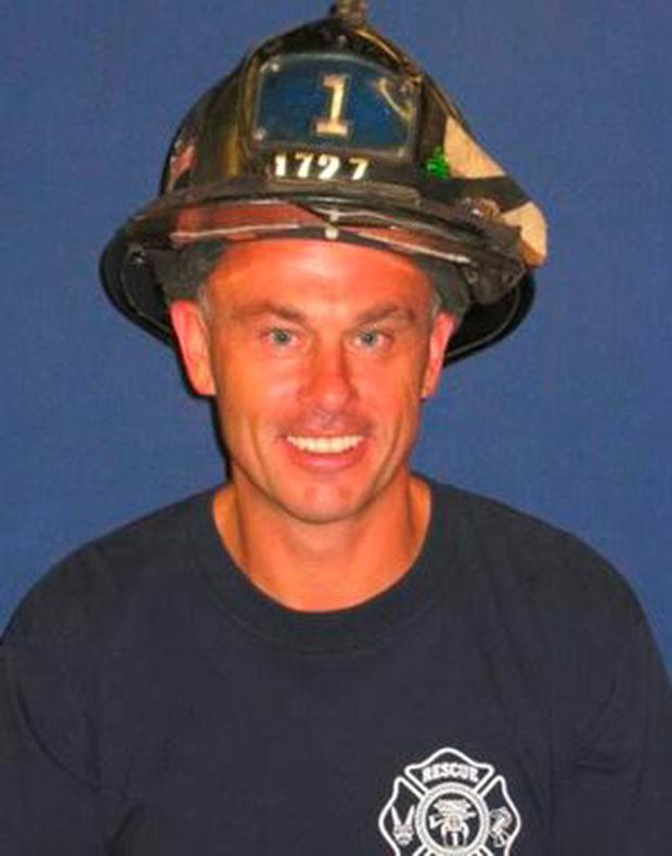 Firefighter Sean Cummins - he and another Irishman rescued Irishwoman Mary Downey from the train tracks in New York