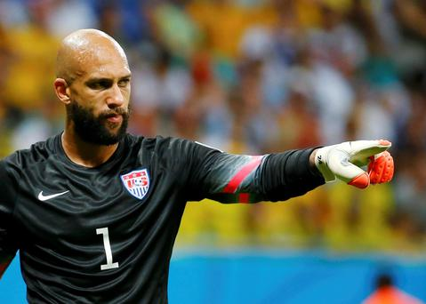 Goalkeeper Tim Howard and his USA colleagues will face Ireland at the Aviva Stadium this November