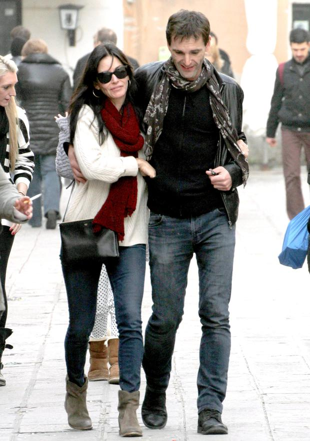 Courteney and fiance Johnny McDaid
