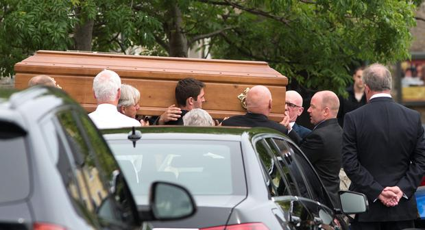 The funeral of Charlie Henry from Sandycove, Dublin. Photo: Mark Condren