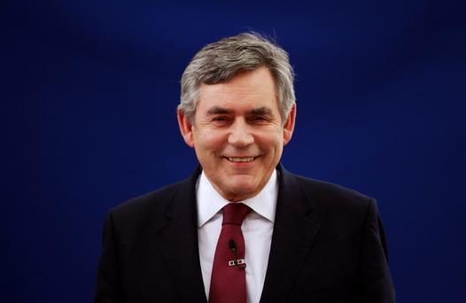 Former British Prime Minister Gordon Brown