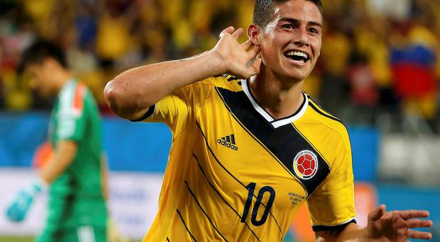 Colombia's James Rodriguez has been of the sta