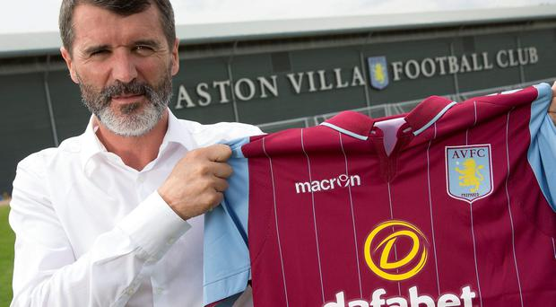 Roy Keane, the new assistant manager of Aston Villa, poses for a picture at the club's training ground at Bodymoor Heath in Birmingham, England. (Photo by Neville Williams/Aston Villa FC via Getty Images)