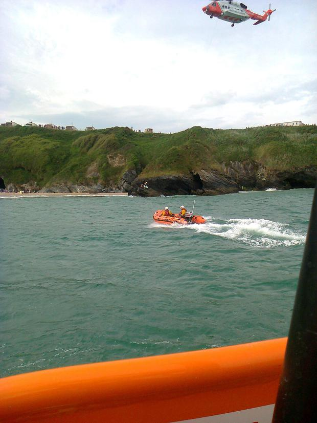 Wicklow RNLI assists four people in difficulty at Silver Strand beach