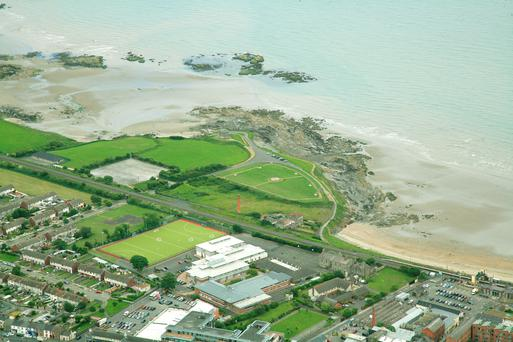 The semi-circle sea-front site at Balbriggan is on sale for €500k