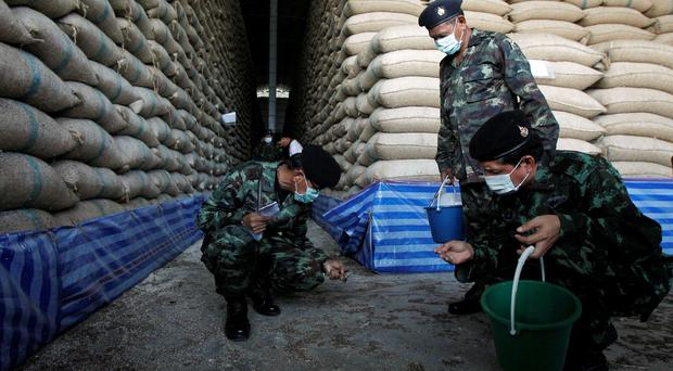 An inspection of rice warehouses launched by Thailand's military government this week thinned supply and drove Thai rice prices to four-month highs