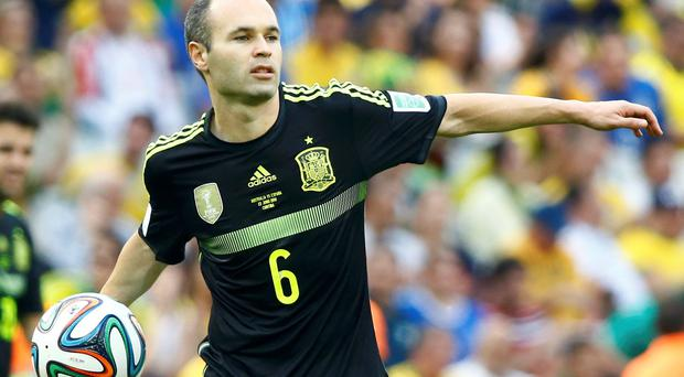 Spain's Andres Iniesta in action during their disappointing World Cup campaign