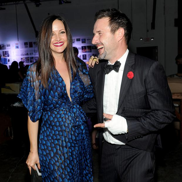 David Arquette and fiancee Christina McLarty