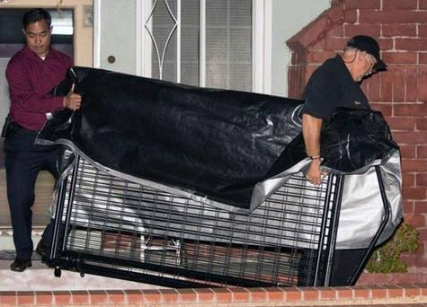 California police said the 11-year-old boy is believed to have been kept in a large metal cage, possibly to control his outbursts