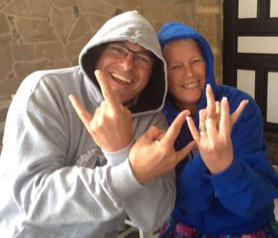 Friends Andrew Downie and Carol Morrow from Manchester have tickets for the Monday concert