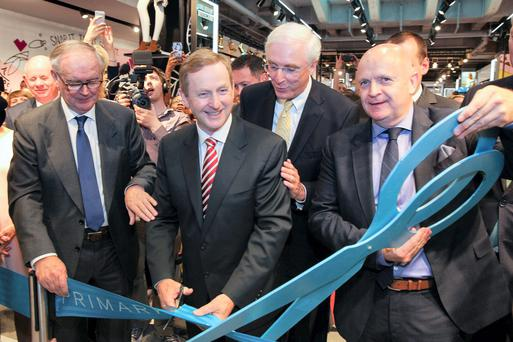 Enda Kenny opens new Primark store in Berlin today
