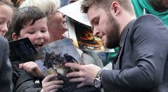 Jack Reynor pictured at the Transformers Age of Extinction Red Carpet in the Savoy cinema Dublin this evening. Pic Stephen Collins/Collins Photos
