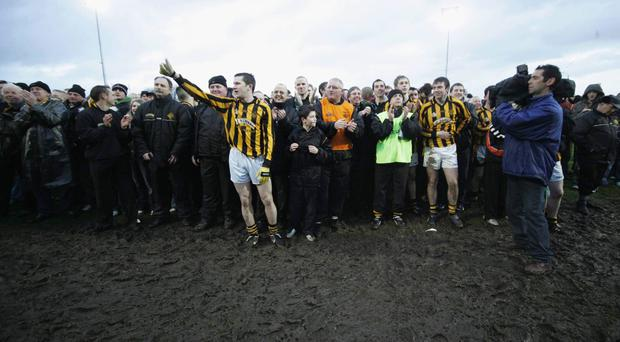 Crossmaglen have been the most successful club team of recent years – including this victory over Ballinderry at Casement Park in Decemebr 2006, the same month that the All-Ireland finals will now be held. Photo: Oliver McVeigh / SPORTSFILE