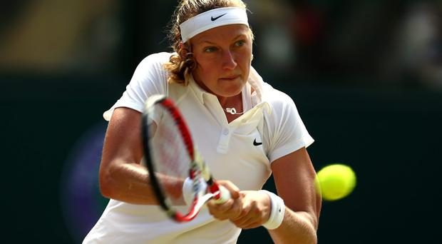 Petra Kvitova on her way to winning the first set during victory over Czech Republic compatriot Lucie Safarova. Photo: Clive Brunskill/Getty Images