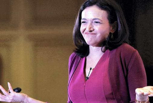 Facebook's Chief Operating Officer Sheryl Sandberg at an interactive session organised for the Federation of Indian Chambers of Commerce yesterday. Photo credit: REUTERS/Adnan Abidi