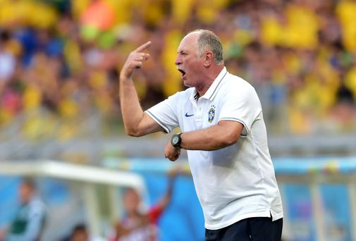 Luiz Felipe Scolari will hope his motivational techniques can inspire his Brazil side to triumph over Colombia. Photo: Buda Mendes/Getty Images