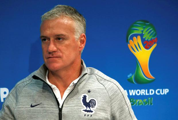 France coach Didier Deschamps has erased the unpleasant memory of the last chapter in his nation's World Cup story. Photo: REUTERS/Charles Platiau