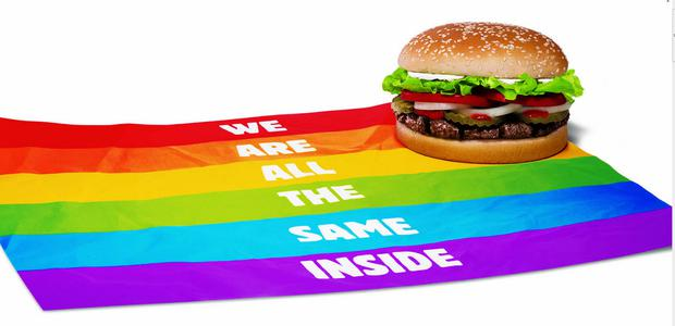 The slogan adopted for Gay Pride by Burger King