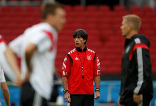 Germany coach Joachim Loew believes the number of foreign players in England is not helping the national team to succeed. Photo: REUTERS/Edgard Garrido