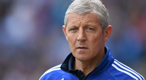 Laois manager Tomas O Flatharta says his side need to forget the fact they are playing away from home. Photo: Brendan Moran / SPORTSFILE