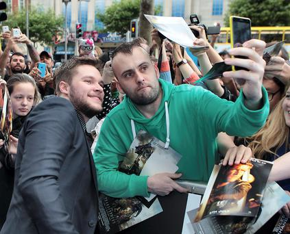 Actor Jack Reynor at The Irish Premiere screening of : Transformers: Age of Extinction at The Savoy Cinema Dublin