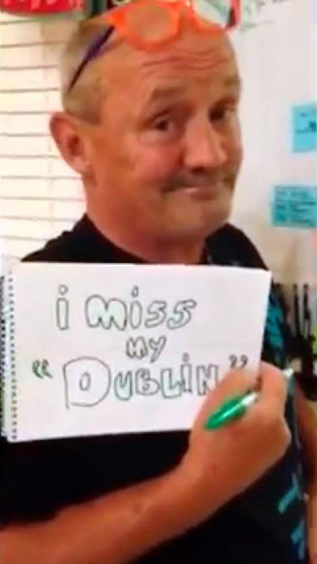 Brendan O'Carroll in Ryan Sheridan's 'Home' video