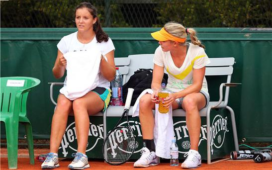 Laura Robson, left, and Eugenie Bouchard, right.