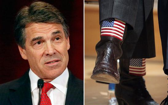 Texan governor Rick Perry and his cowboy boots Photo: GETTY IMAGES
